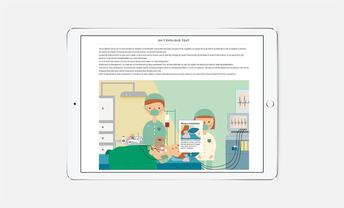 Dessin animé site internet Philéas Anesthésistes Jules Verne Digisanté