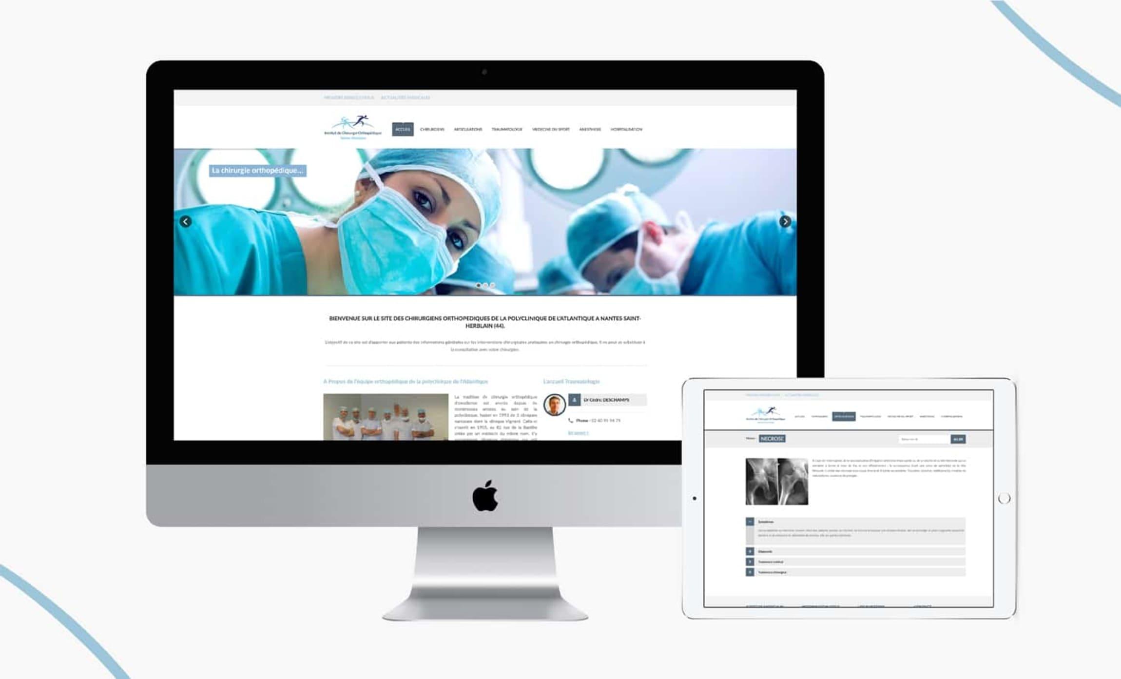 Site internet chirurgie orthopédique Digisanté