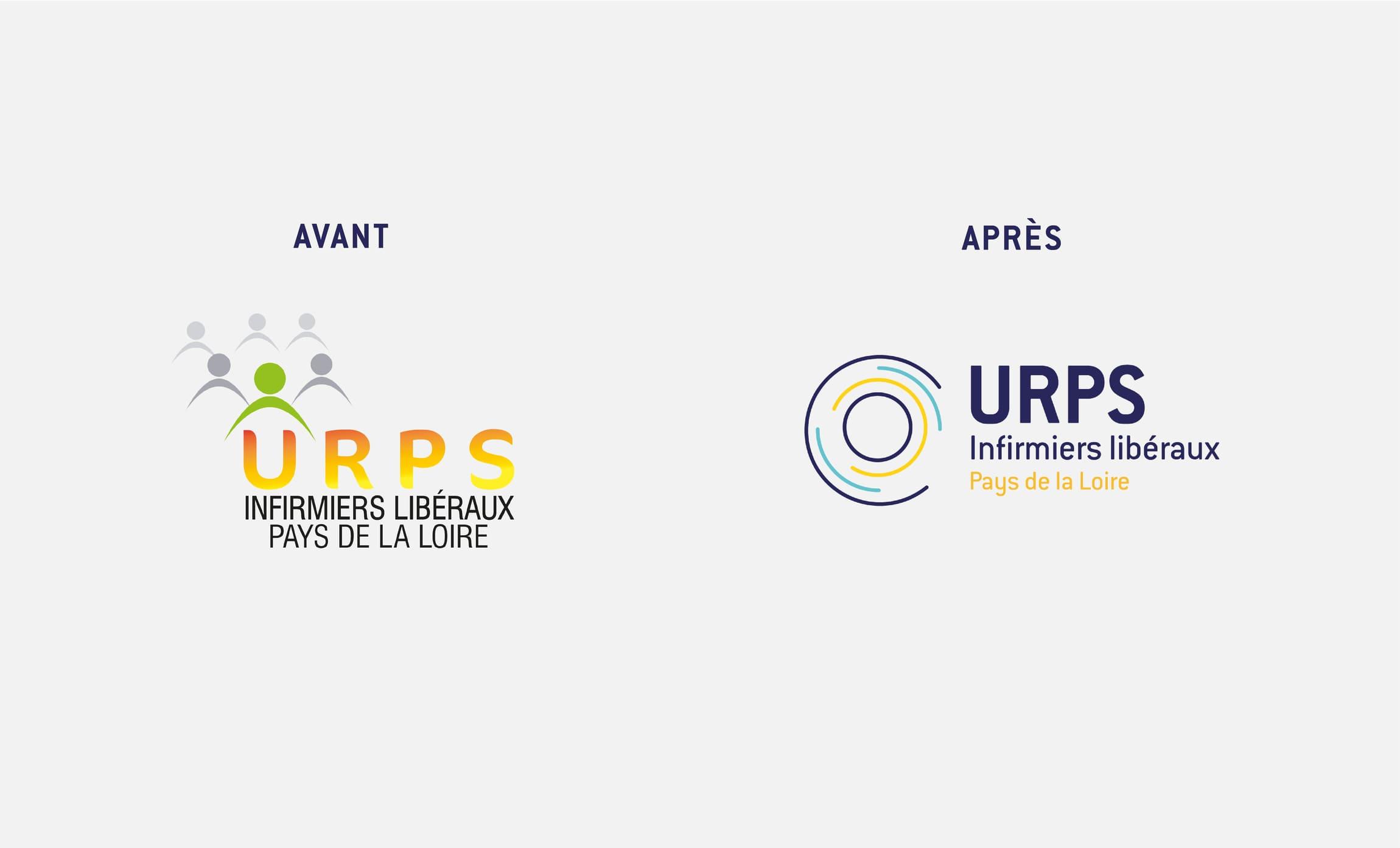 Charte graphique changement logo URPS Infirmiers des Pays de la Loire Digisanté