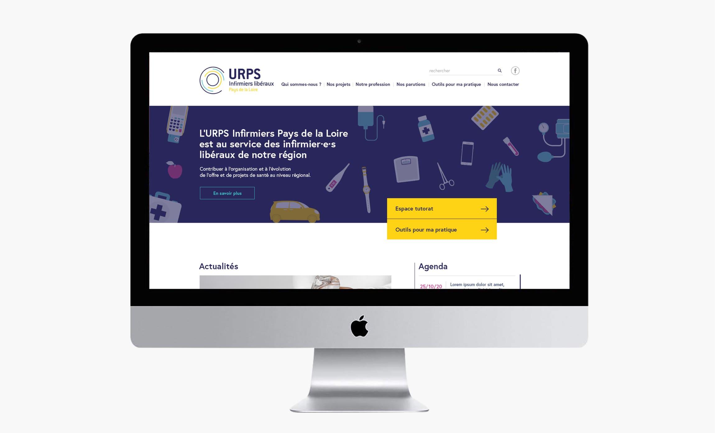 Site internet maquettes URPS Infirmiers des Pays de la Loire Digisanté