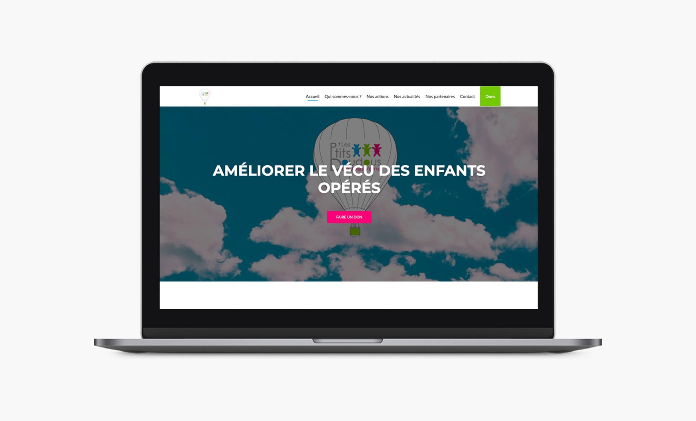 Site internet Les petits doudous de Jules Verne Digisanté