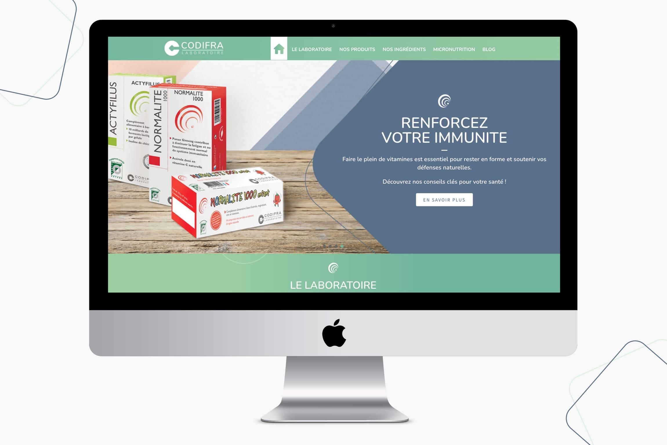 Site internet Codifra laboratoire Digisanté