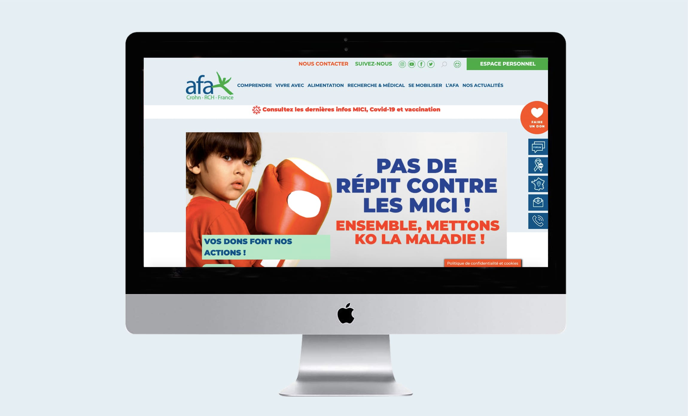 Site internet Association François Aupetit Maladies crohn RCH Digisanté