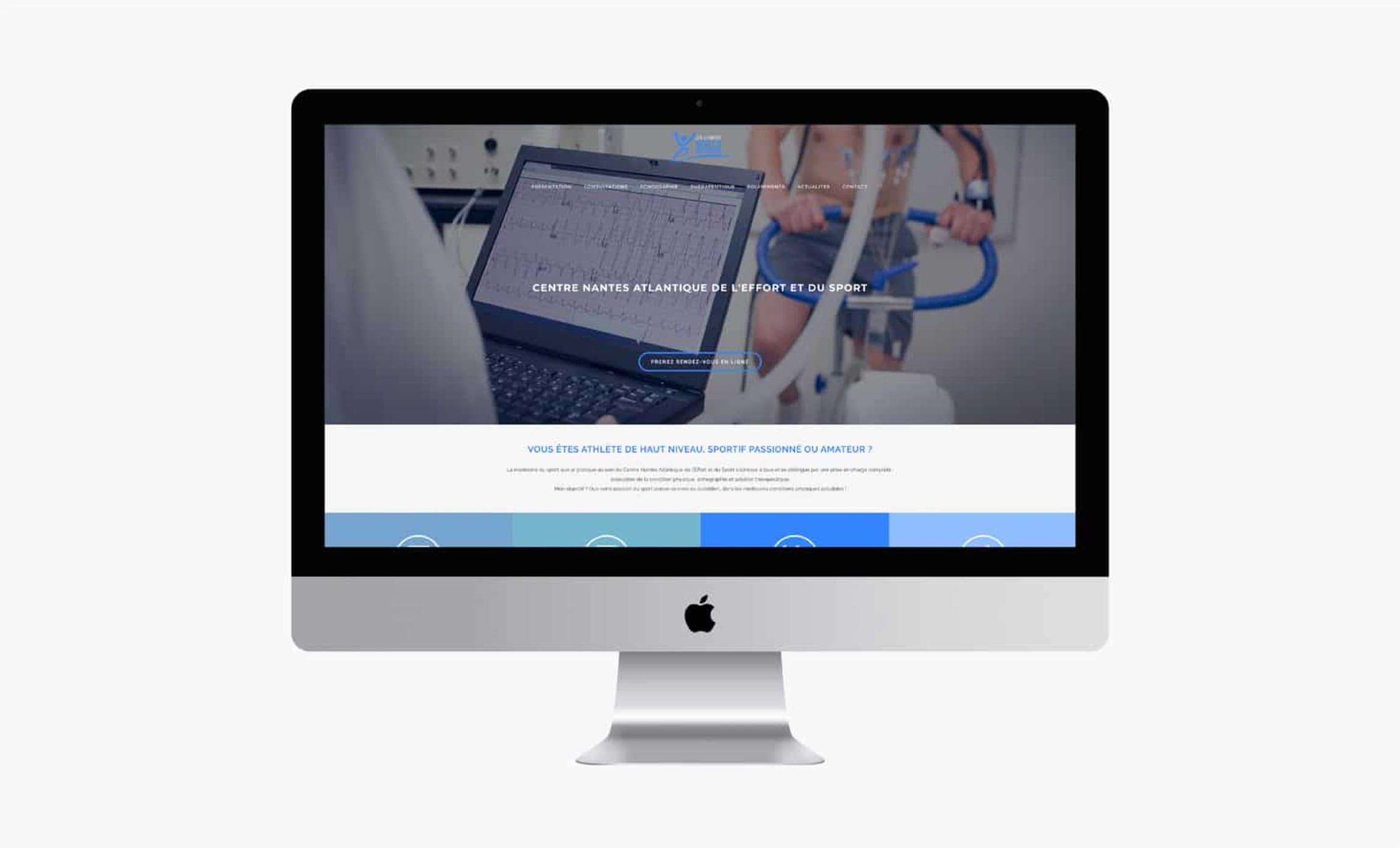 Site internet CNAES Dr Chimot identité visuelle Digisanté