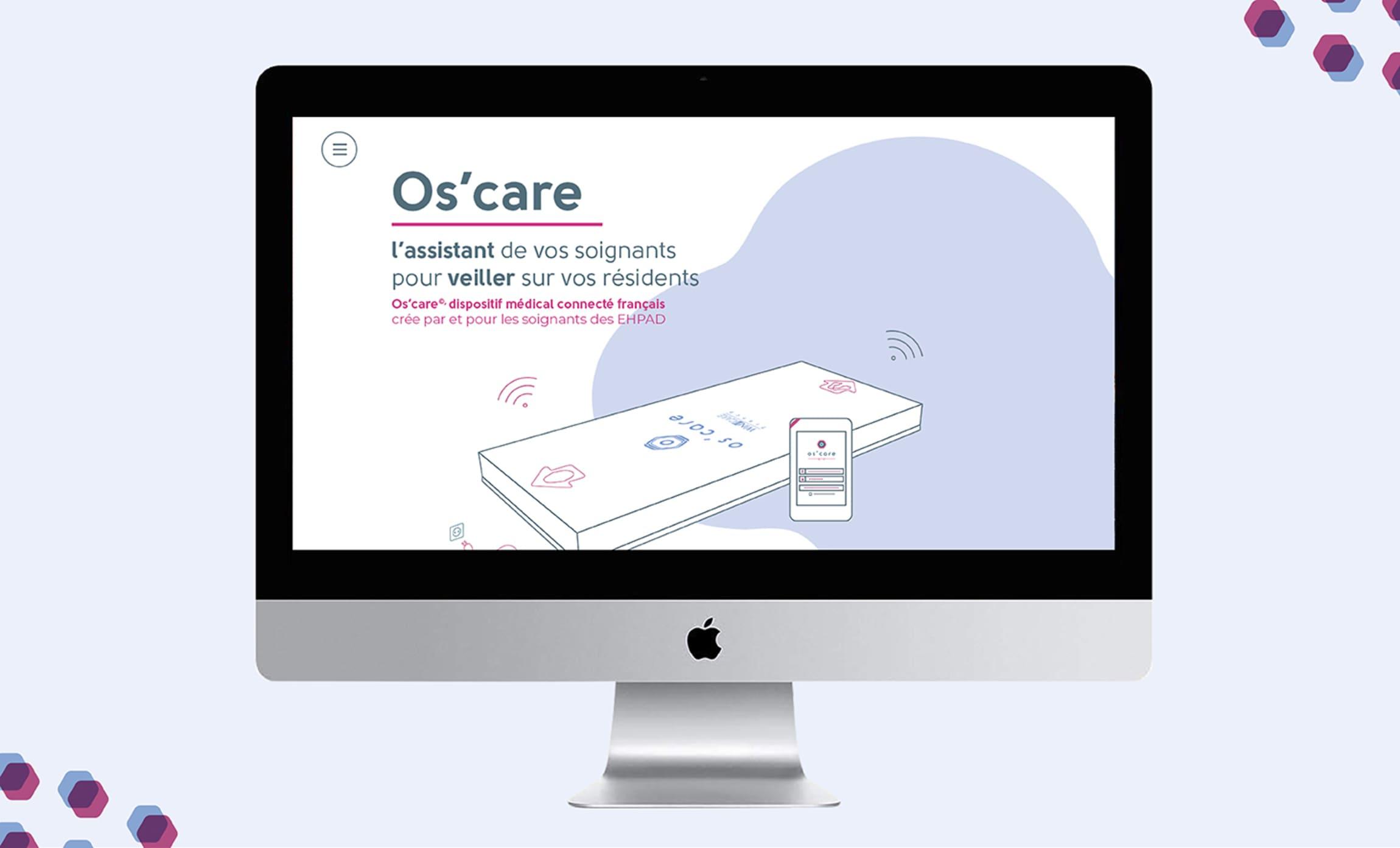 Présentation site Os'care assistant des soignants pour veilleur sur les résidents Digisanté