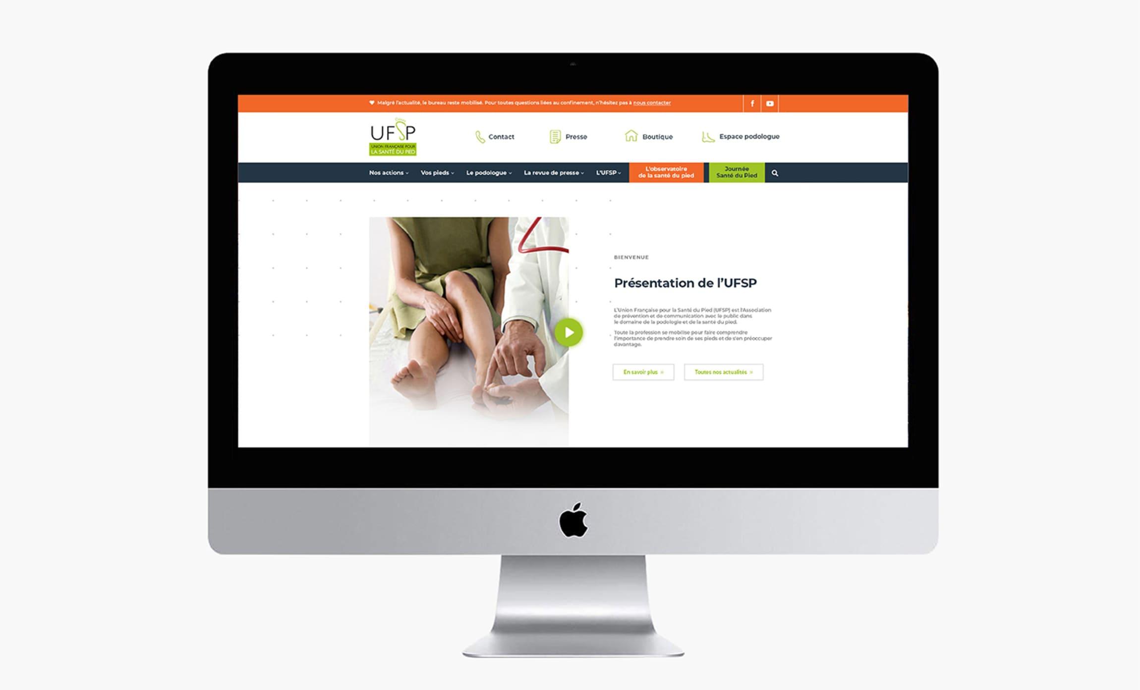 Site internet Union Française de la Santé du Pied UFSP Digisanté