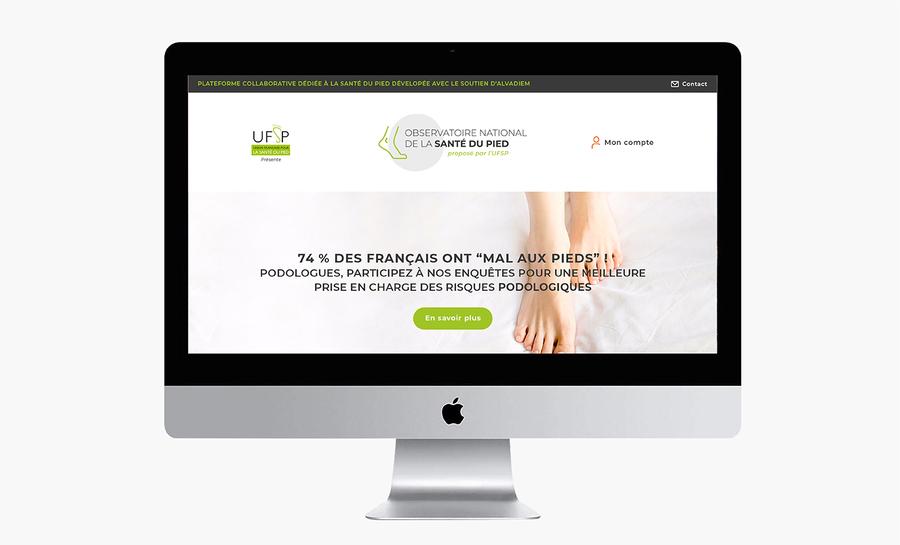 Site internet UFSP Union Française de la Santé du Pied maquettes Digisanté