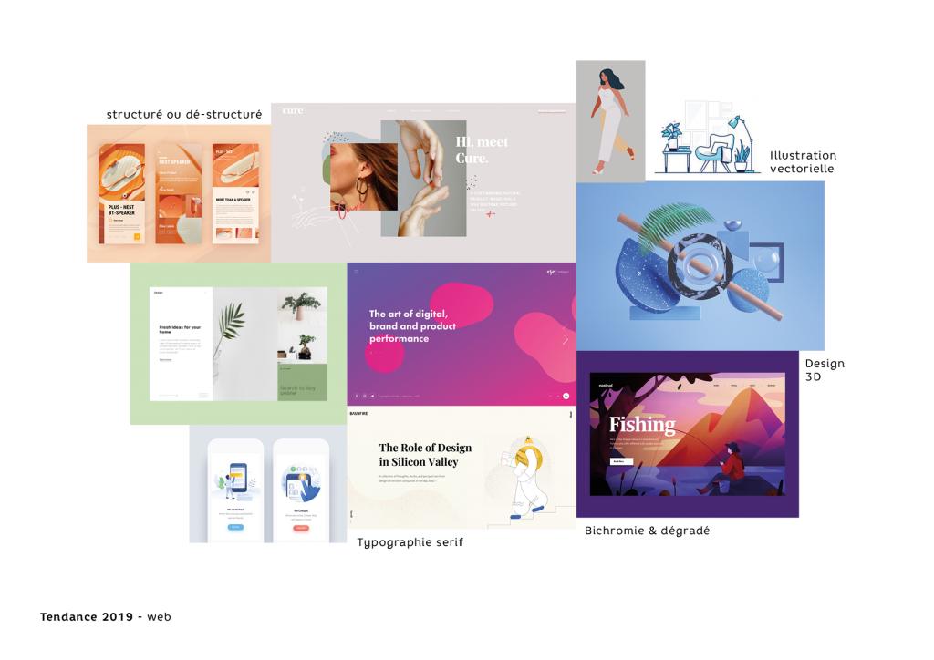 Les tendances du design et du web design en 2019 Digisanté