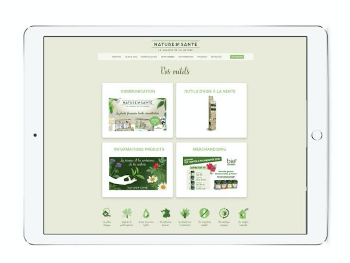 e-ADV application commerciale laboratoire Nature & Santé Digisanté