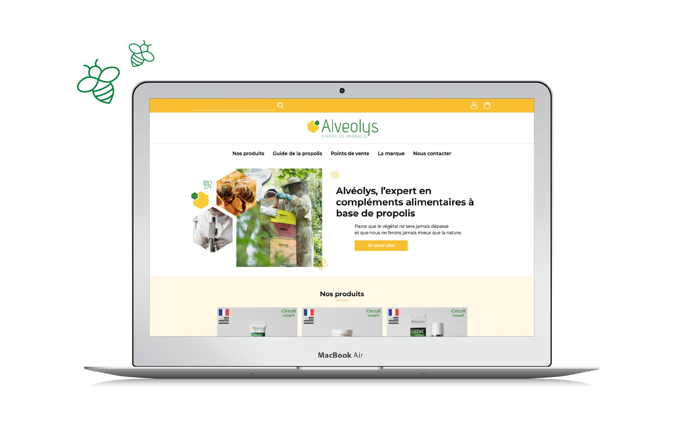 Site internet Alvéolys compléments alimentaire apithérapie Digisanté