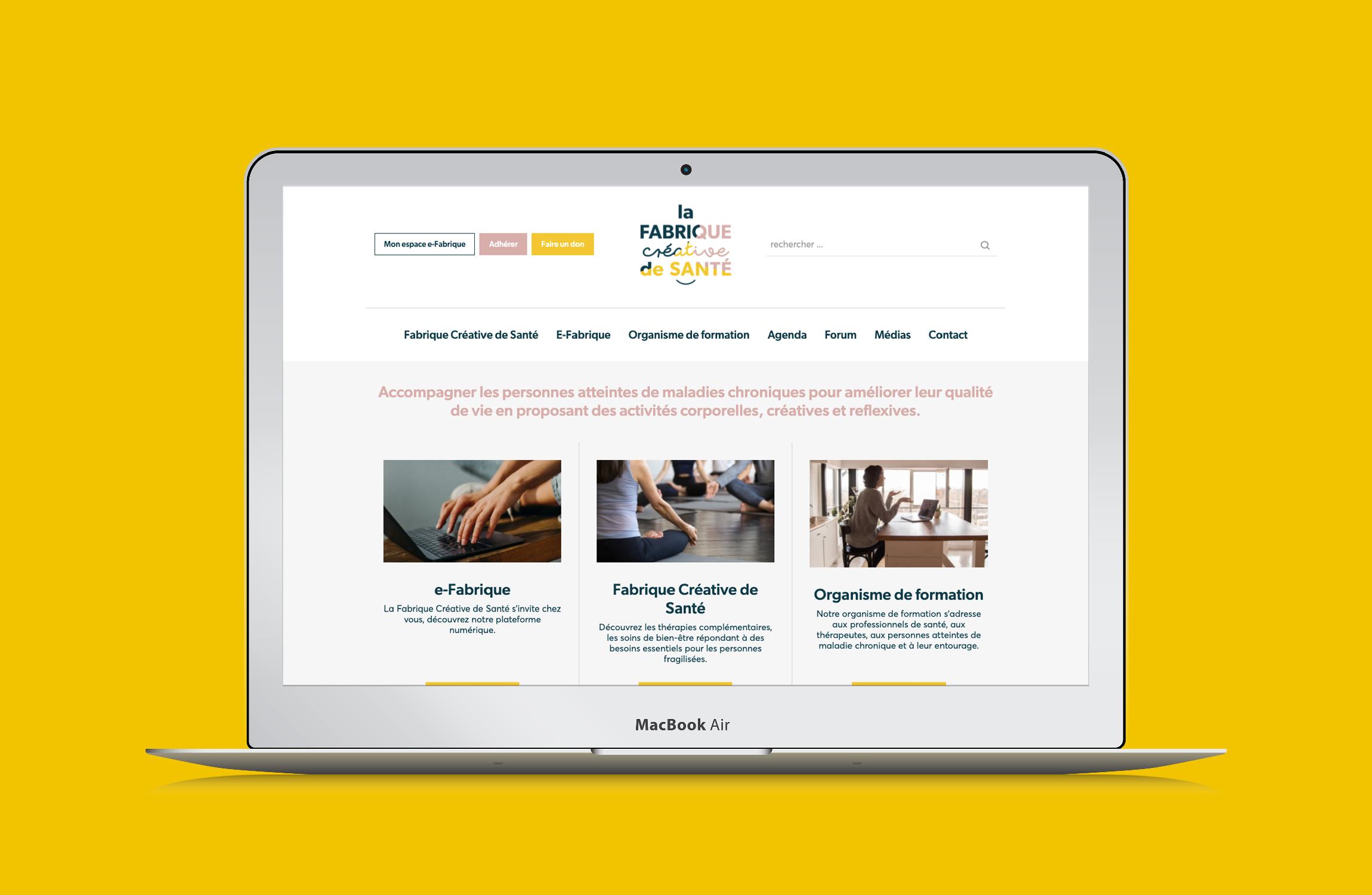 Site internet Fabrique creative santé Digisanté