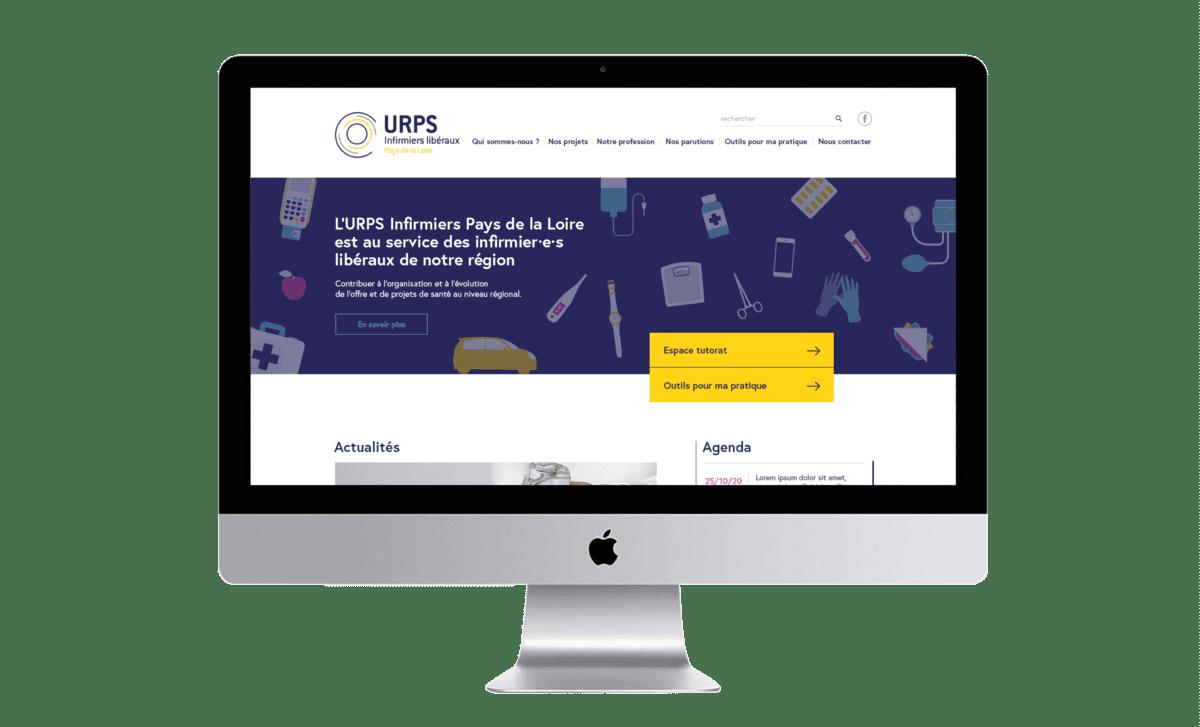 Site URPS Infirmiers Pays de la Loire Digisanté