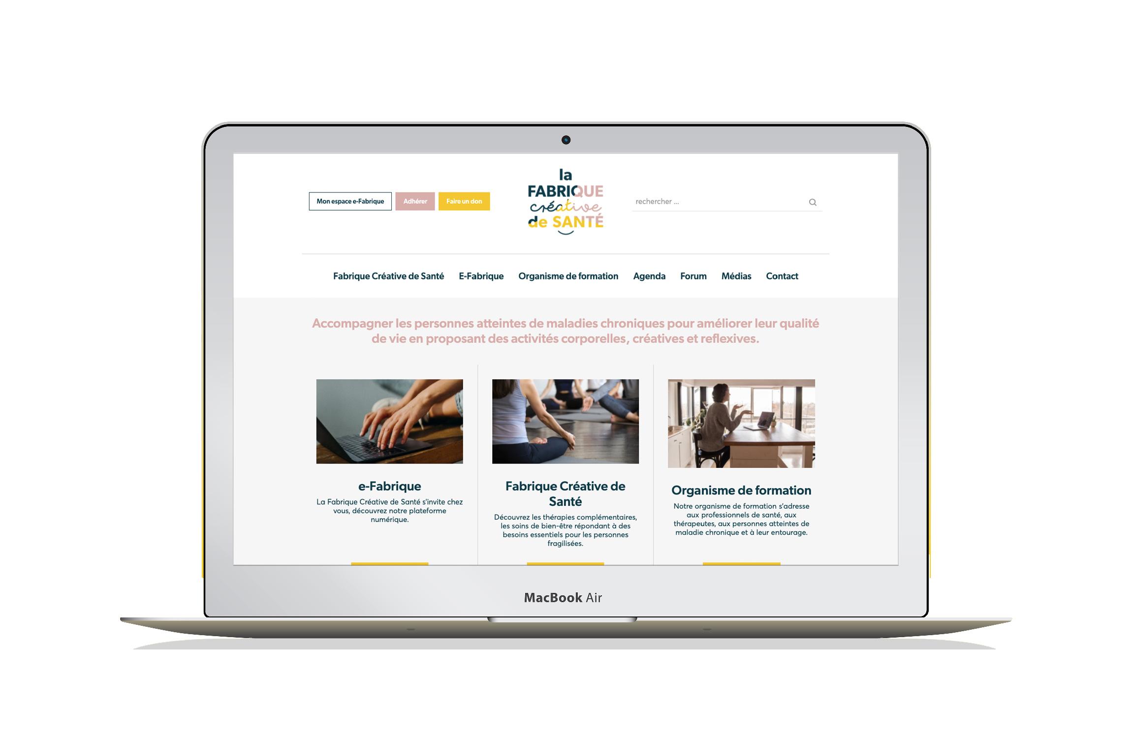 Site internet Fabrique Creative Santé accompagnement personnes atteintes maladies chroniques Digisanté