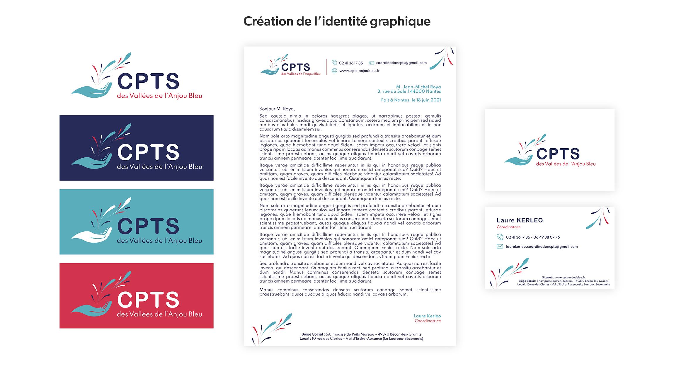 Identité graphique CPTS des Vallées de l'Anjou Bleu