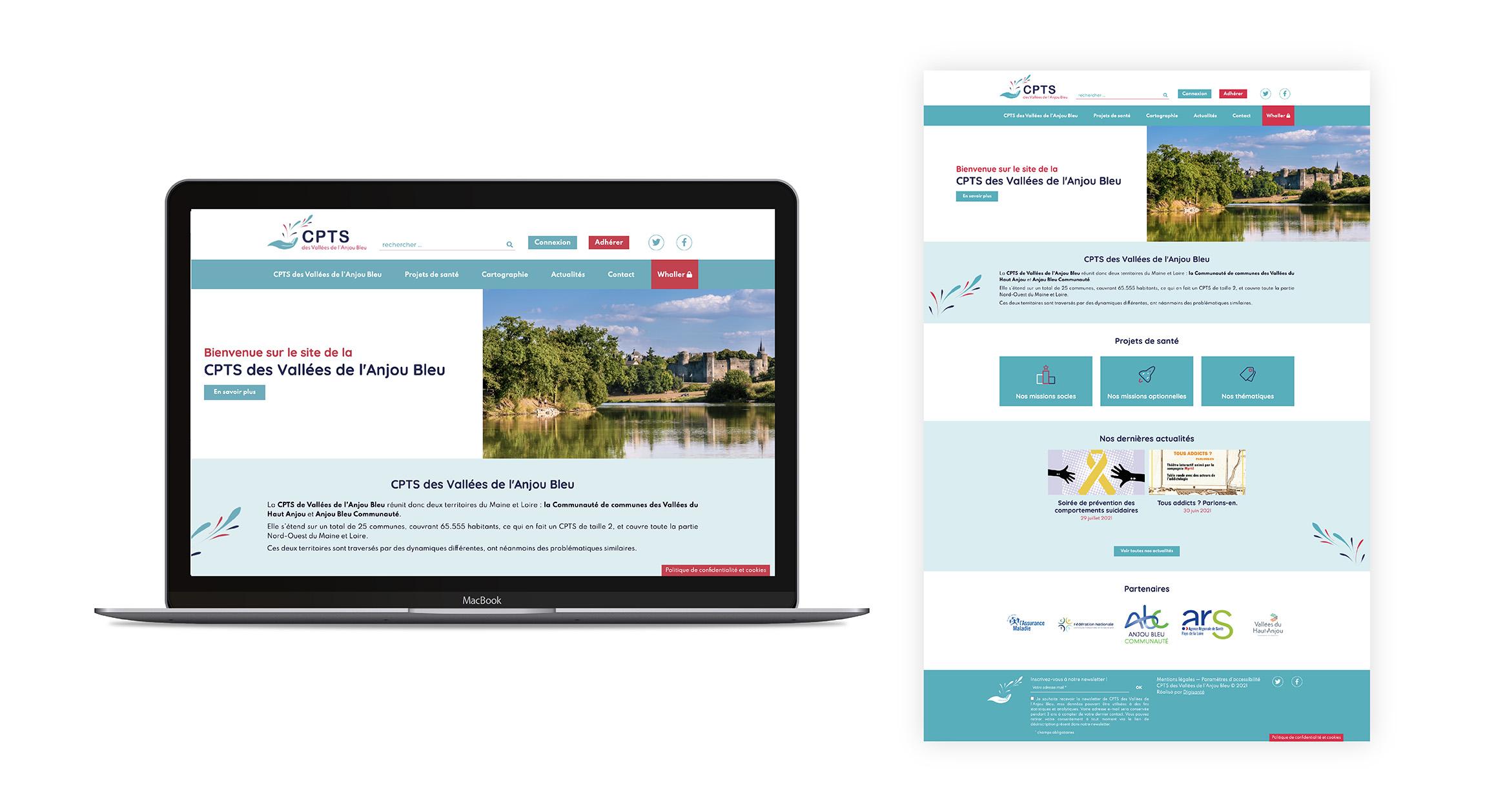 Site web CPTS des Vallées de l'Anjou Bleu