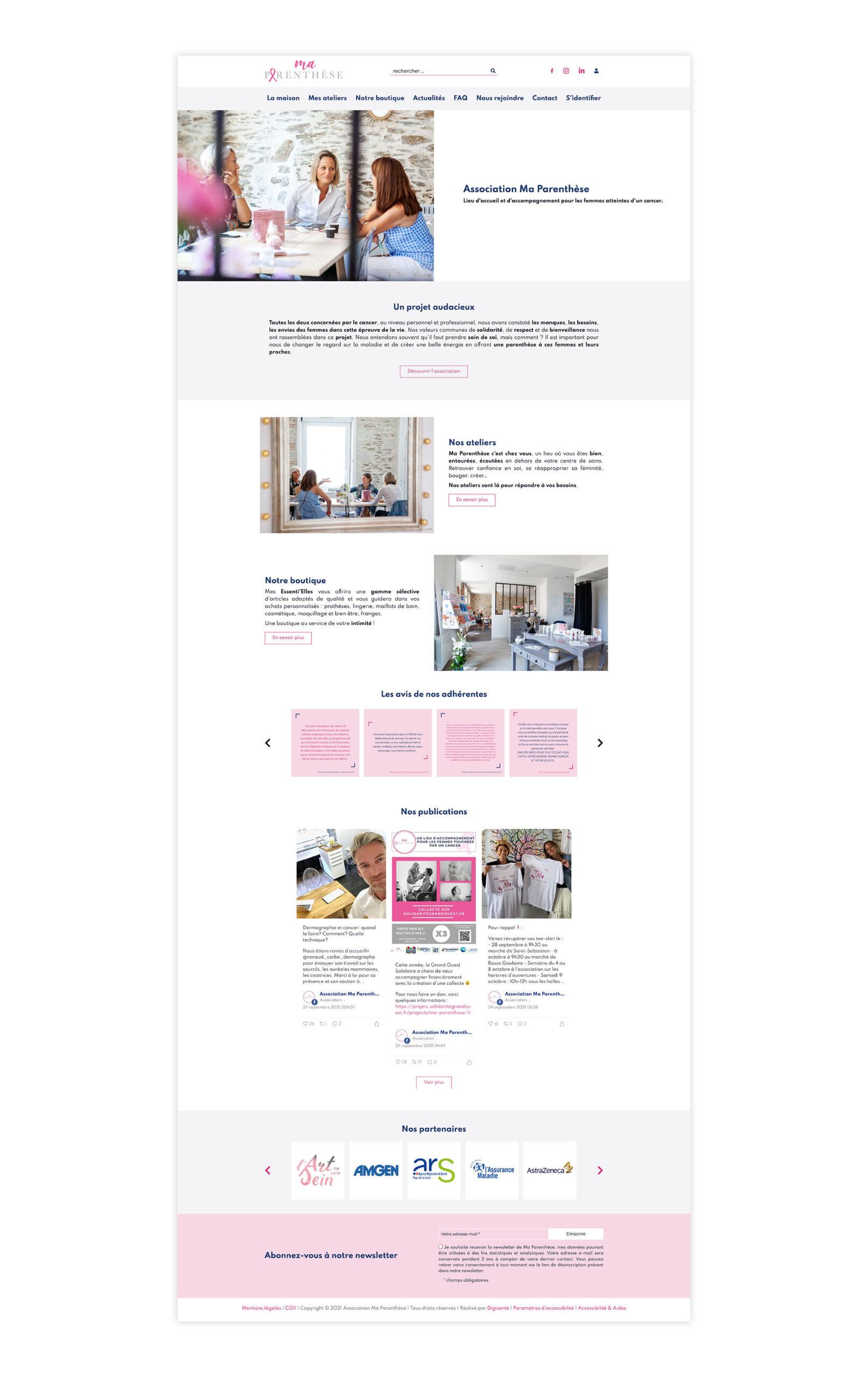 Site web Ma Parenthèse